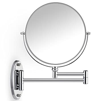 Cosprof Bathroom Mirror 10X/1X Magnification Double Sided 8 Inch Wall  Mounted Vanity Magnifying