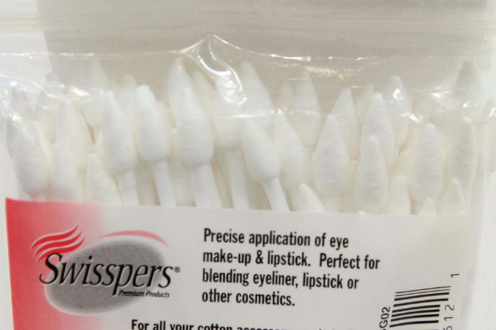 80 Count Swisspers Double-Tipped Cotton Cosmetic Applicators (Pack of 2)