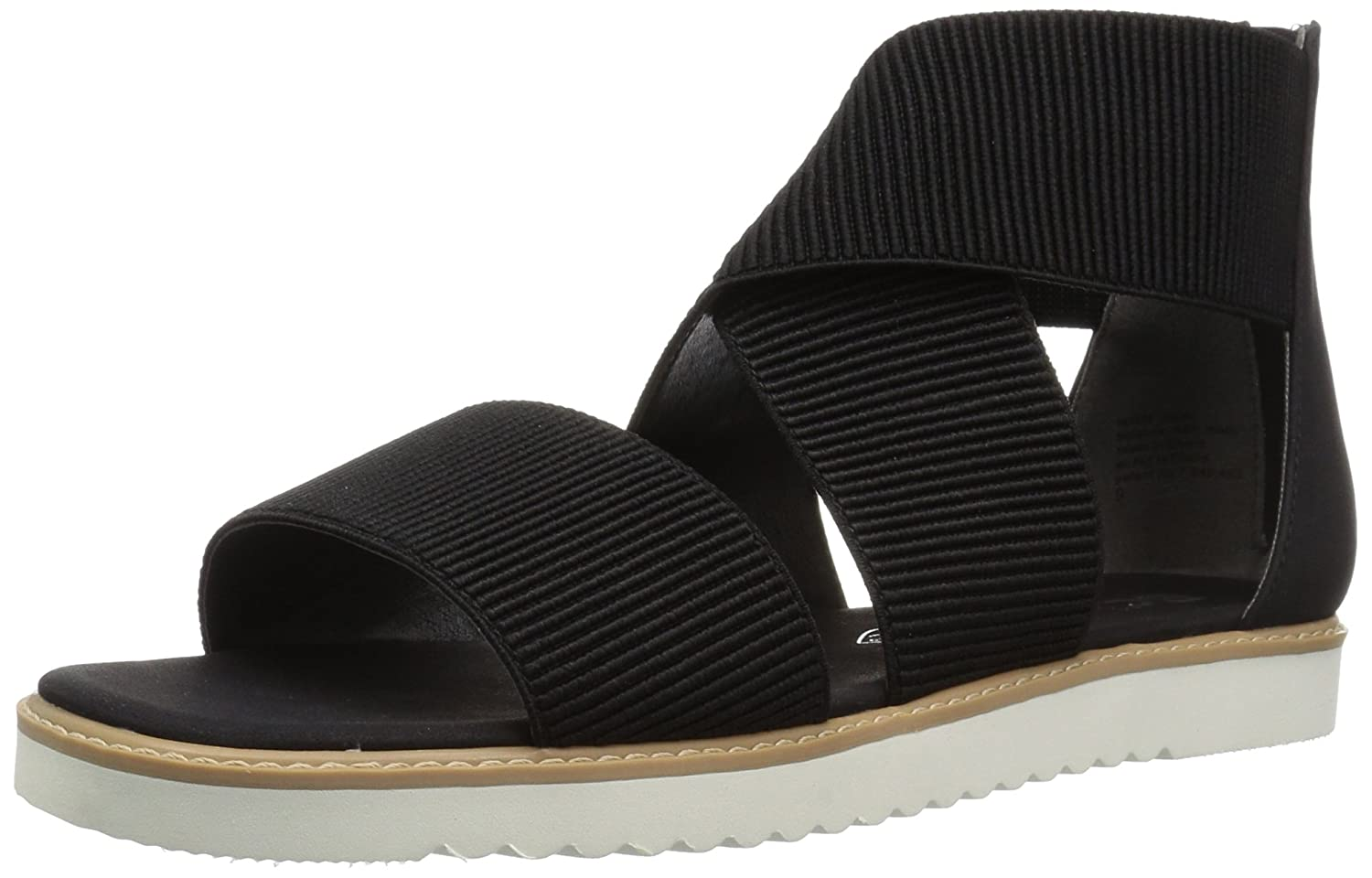 BC Footwear Women's Ring Toss Flat Sandal B0759KRC2B 9.5 B(M) US|Black