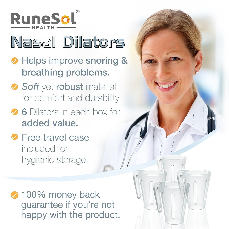 ... pequeños - Dilatador nasal x 6 Dejar de roncar el sida | Apoya la apnea del sueño y ayuda a la congestión nasal | Dispositivos de ventilación de nariz y ...