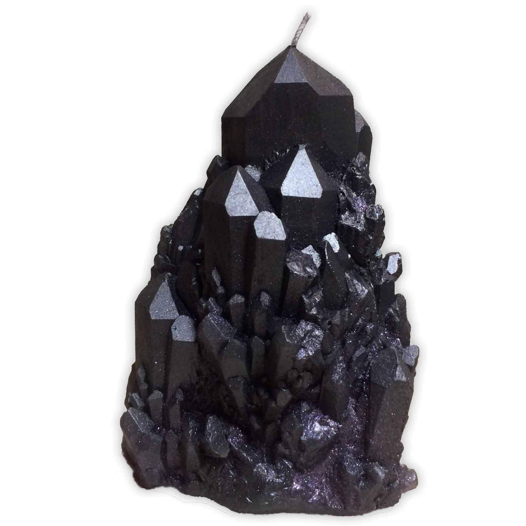 ABUNDANCE QUARTZ CRYSTAL Candle in Smokey Quartz (black)