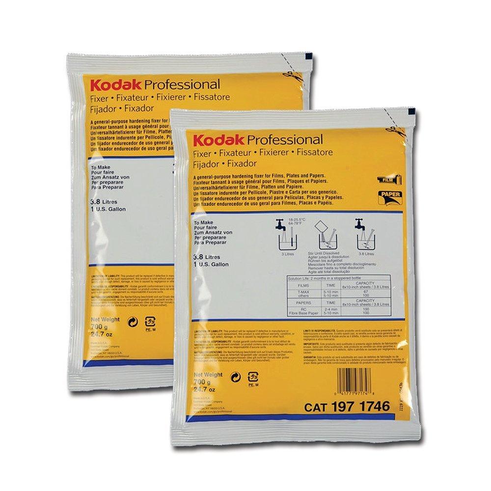 2-Pack Kodak Fixer for Black & White Film & Paper (Powder) Makes 2 Gallons by KODAK