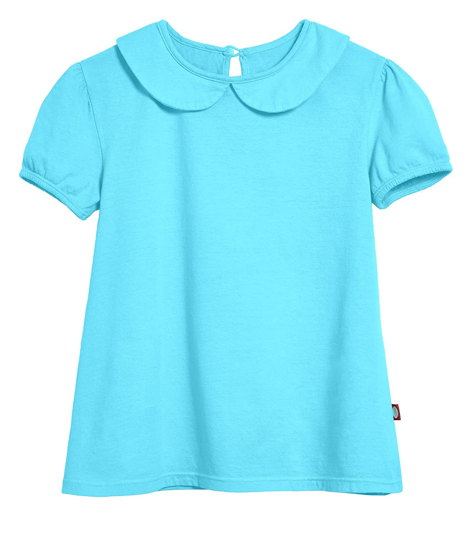 City Threads Girls Peter Pan Collar A-Line Puff Tee Tshirt for School /& Play