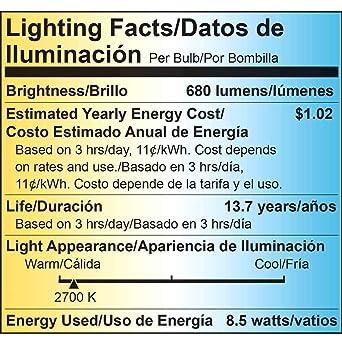 Recessed Light Bulbs LED, Viribright BR30 LED (9W), 65 Watt Equivalent LED Light Bulbs, 2700K Warm White, 680 Lumens, E26 LED Bulb Base, Flood Light Bulbs ...