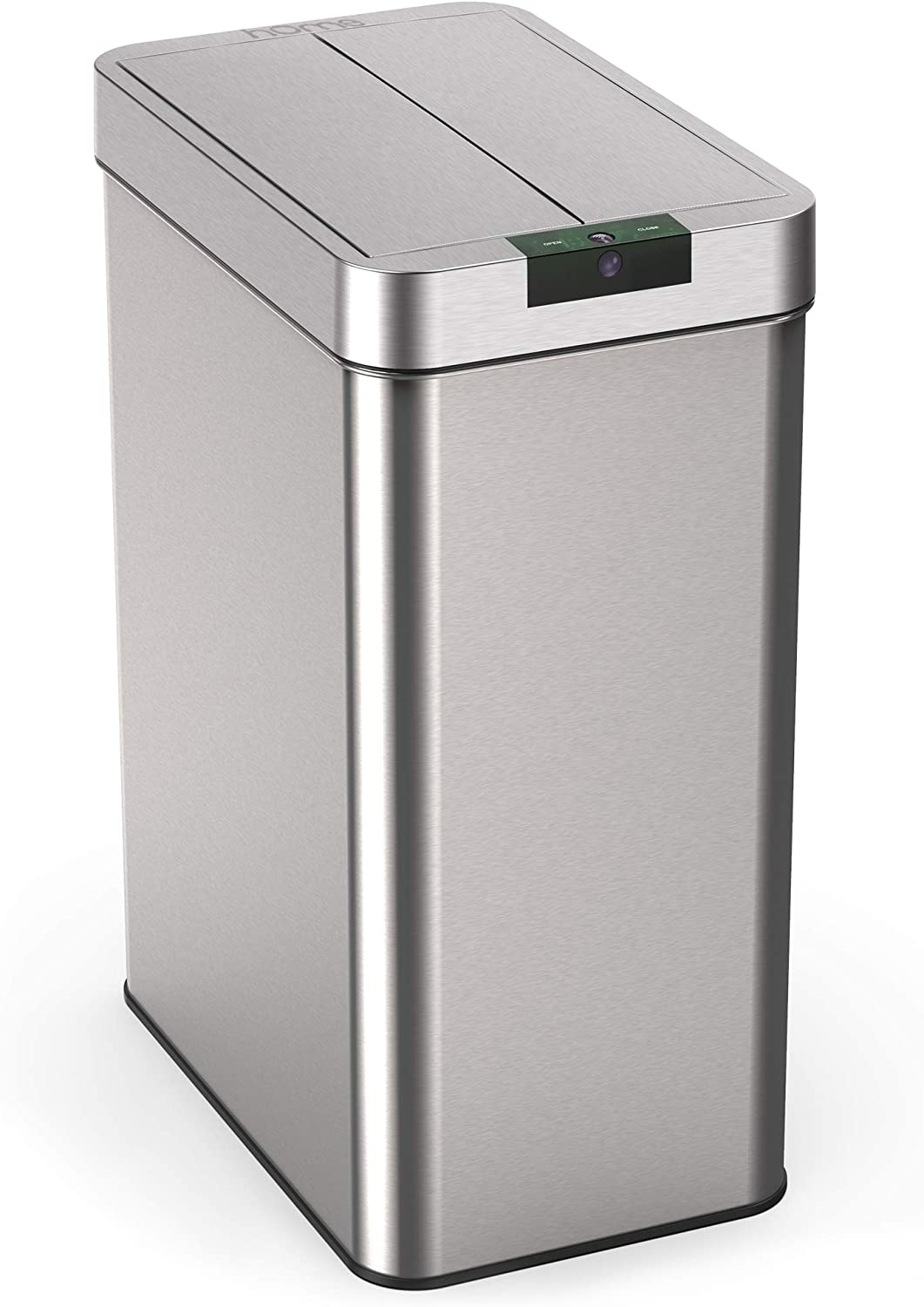 hOmeLabs 13 Gallon Automatic Trash Can for Kitchen - Stainless Steel  Garbage Can with No Touch Motion Sensor Butterfly Lid and Infrared  Technology