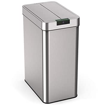 Amazon.com: hOmeLabs - Papelera automática de acero ...