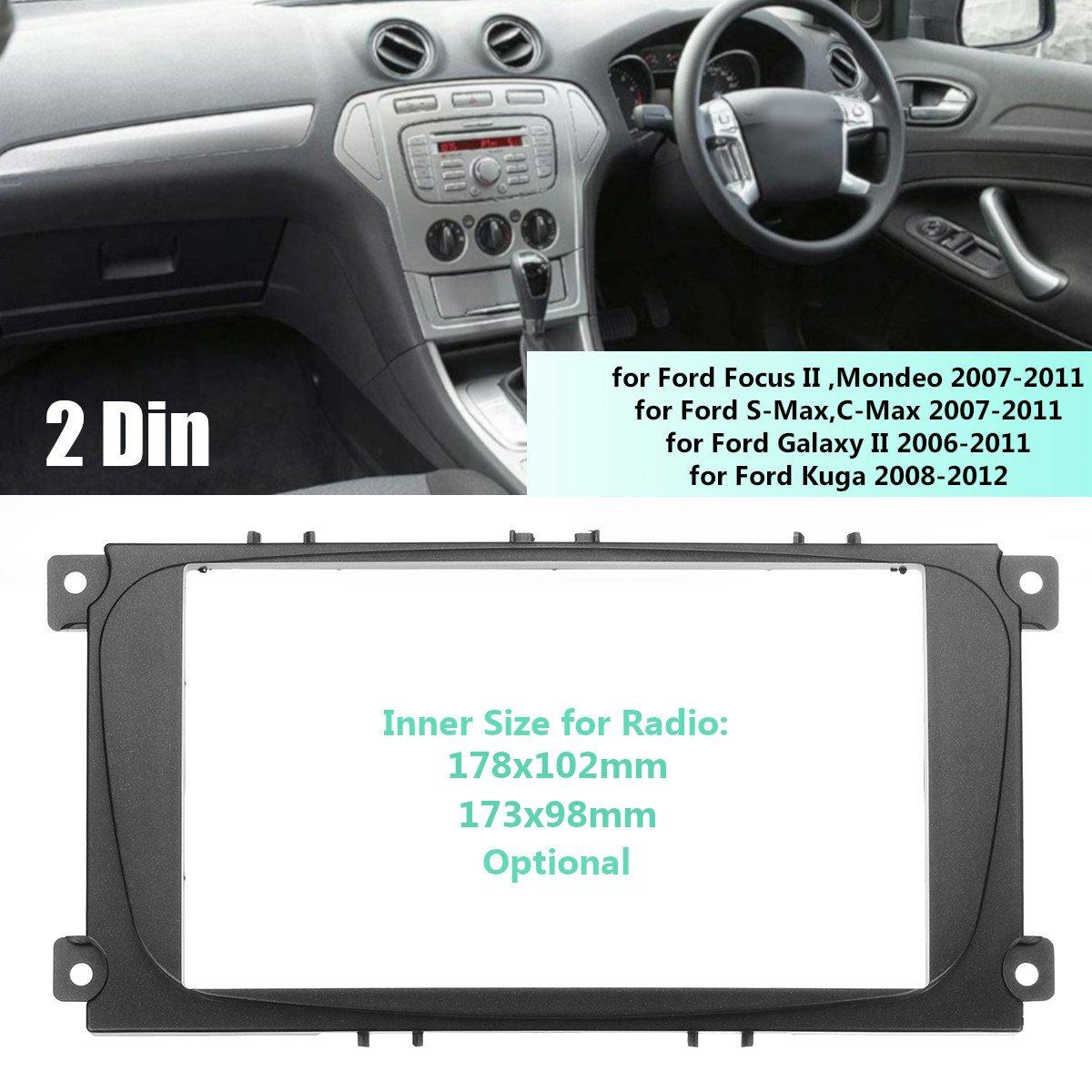 Daphot Store 2 Din Car Stereo Radio Fascia Panel Plate Daihatsu Copen Wiring Diagram Frame Cd Dvd Audio Dash Mount Trim Kit For Ford Focus Ii Kuga S Max Galaxy Home