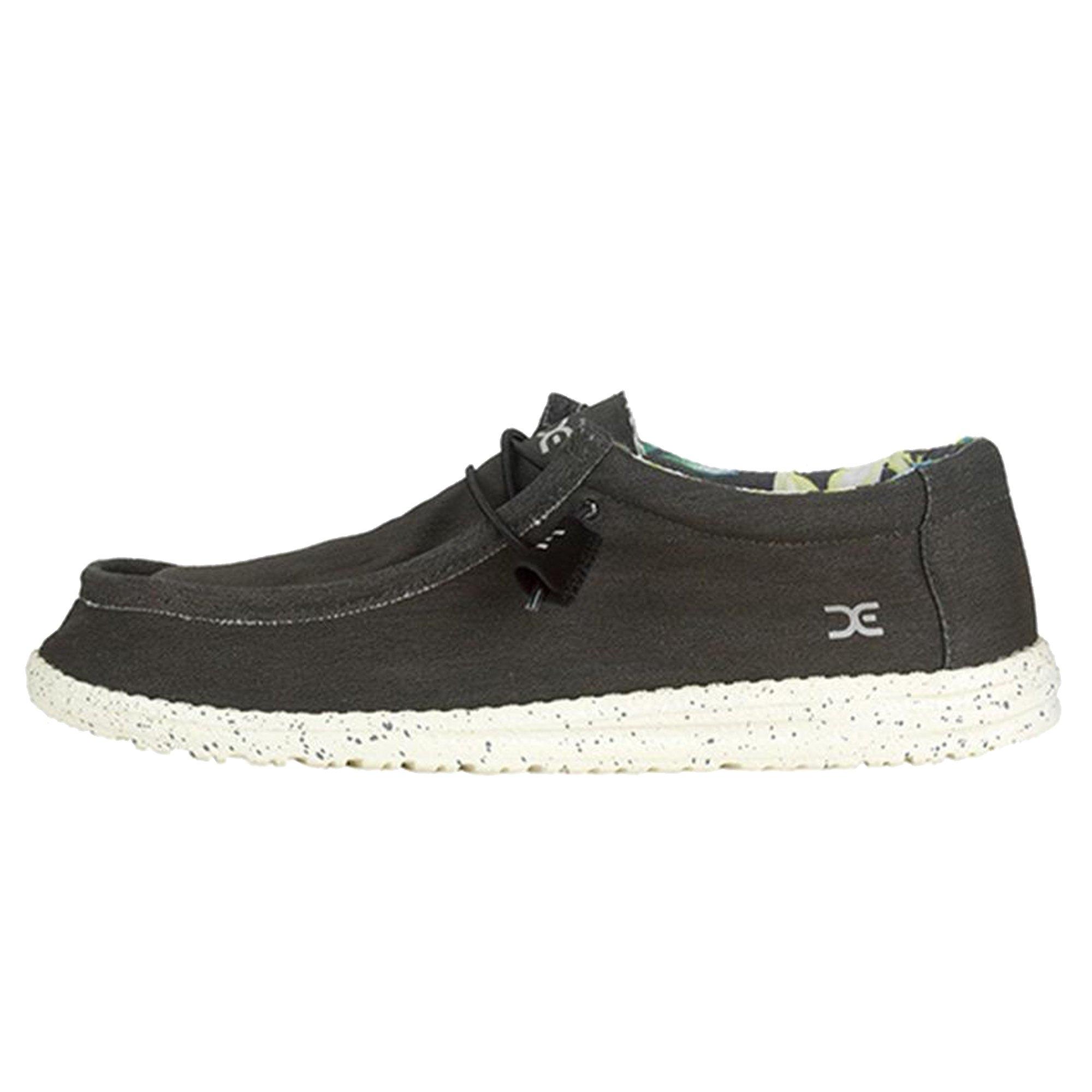 Hey Dude Men's Wally Stretch Loafers, Black, Textile, Memory Foam, 10 US M/EU 43