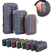 Eono Amazon Brand Essentials Microfiber Towel Perfect Sports & Travel & Beach Towel. Fast Drying - Super Absorbent - Ultra Compact. Suitable for Camping, Gym, Beach, Swimming, Backpacking