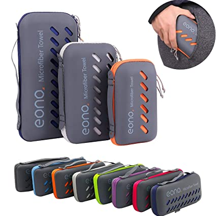 Eono Essentials Toalla de microfibra para llevar al gimnasio, a la playa, de camping