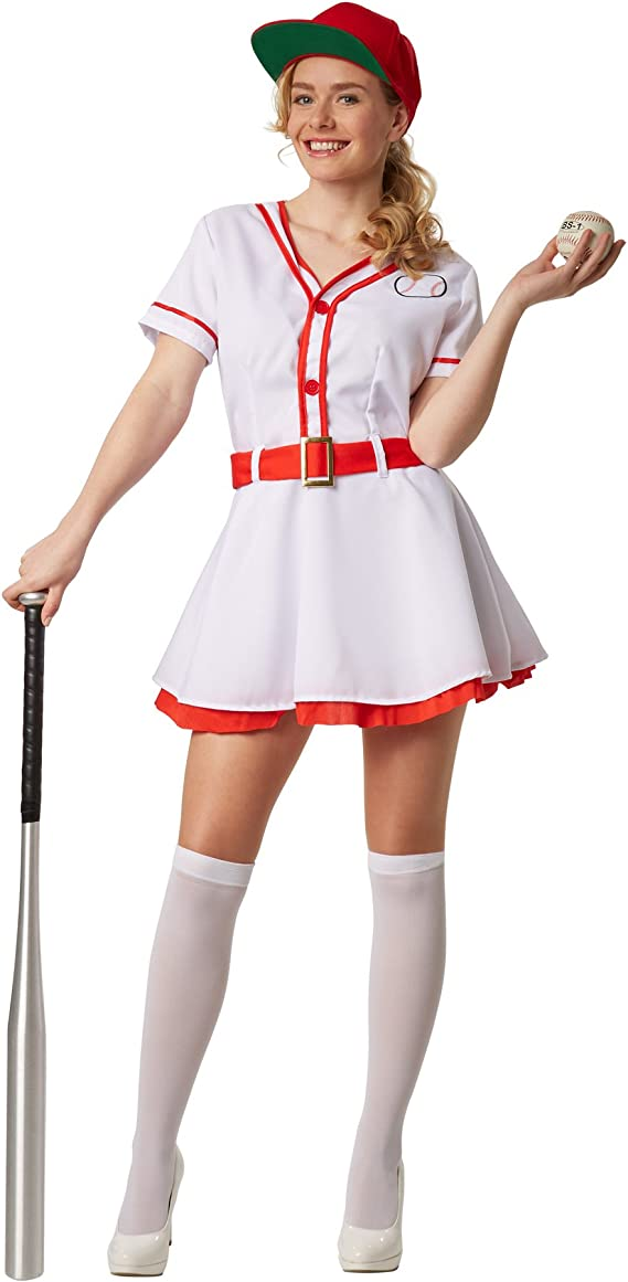 dressforfun Disfraz para mujer Béisbol | Vestido de una pieza con ...