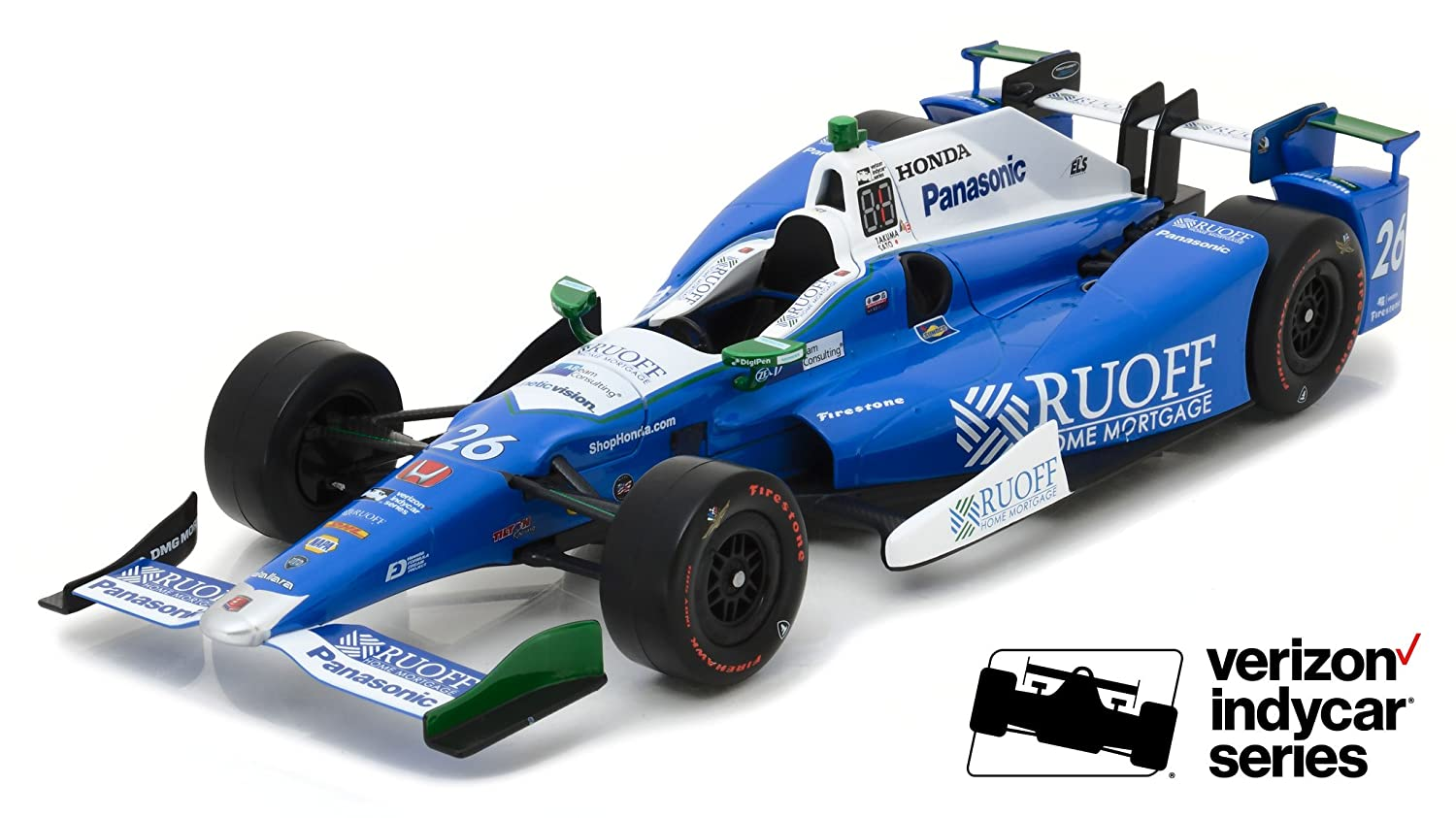 Amazon com greenlight 2017 26 takuma sato andretti autosport ruoff home mortgage 2017 indianapolis 500 champion 118 scale toys games