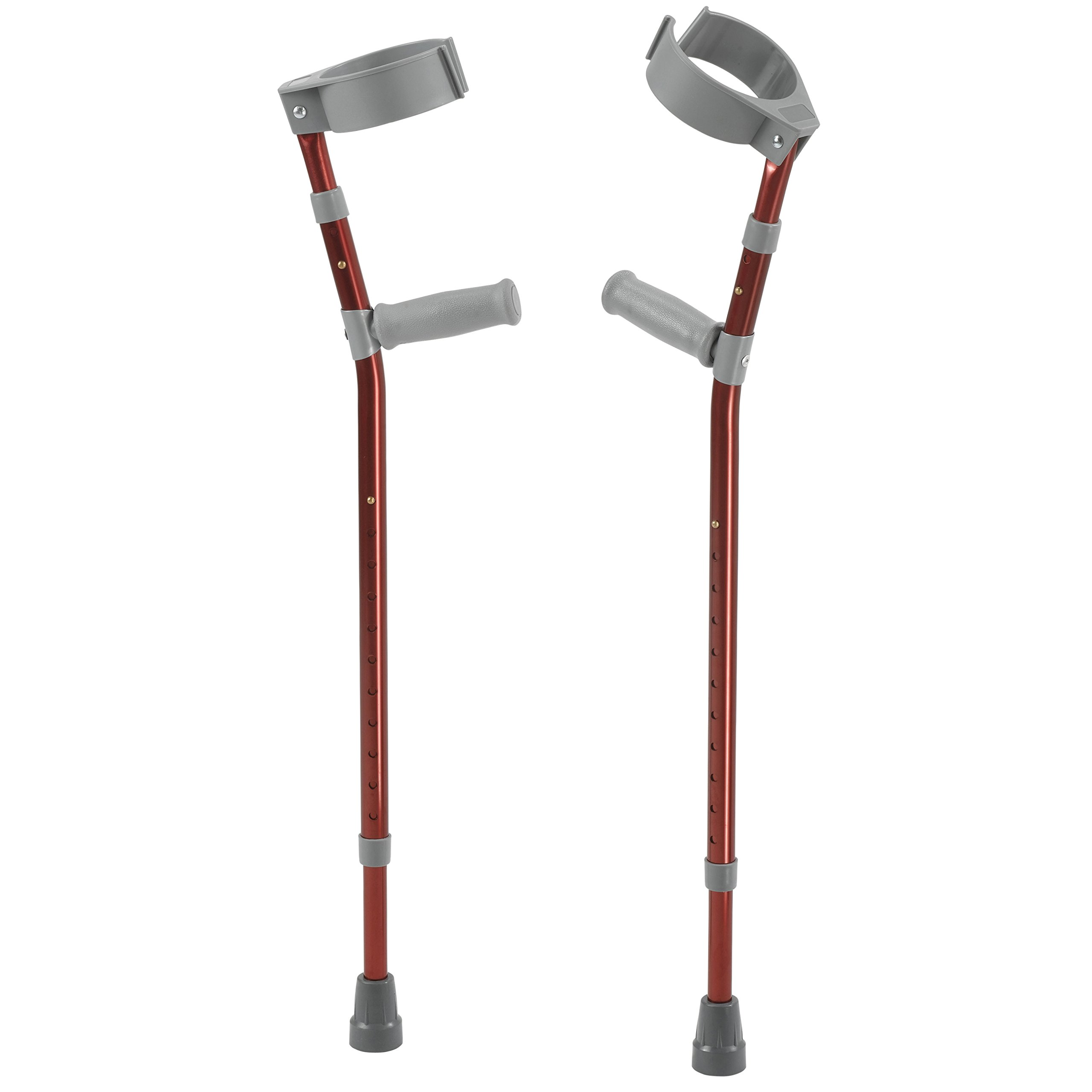 Inspired by Drive Pediatric Forearm Crutches, Castle Red, Small