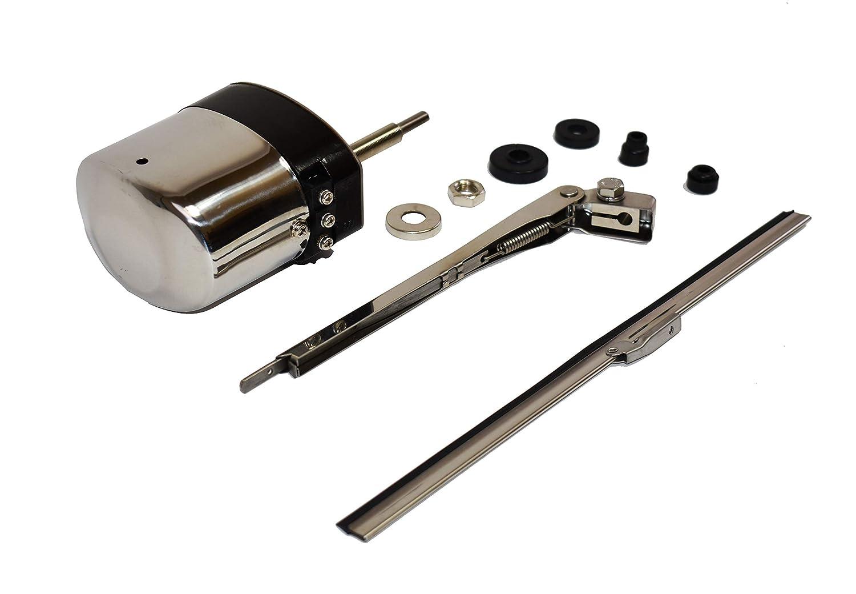 A-Team Performance Stainless Steel Windshield Wiper Kit Universal Application 12V Motor