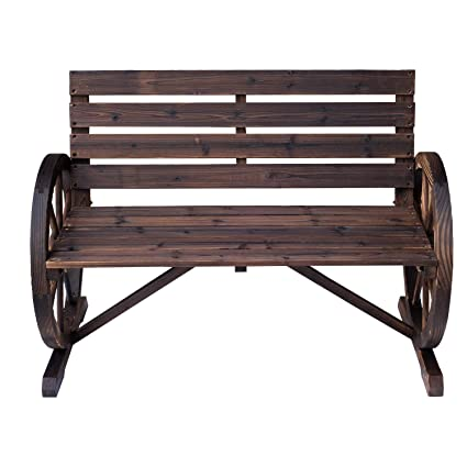 Awesome Amazon Com 41 5 L Wooden Garden Bench Seat Outdoor Evergreenethics Interior Chair Design Evergreenethicsorg