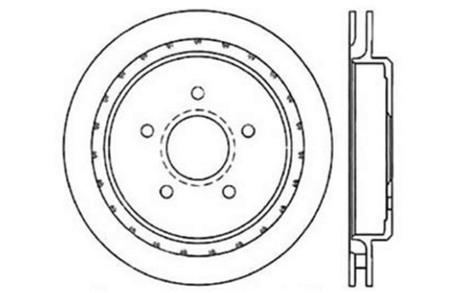 1 Pack StopTech 127.62062R Sport Drilled//Slotted Brake Rotor Rear Right