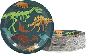 Dinosaur Birthday Party Supplies, Fossil Plates (9 in., 80 Pack)