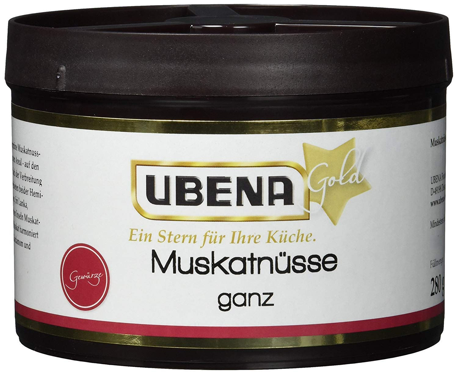 Ubena Whole nutmegs 280g