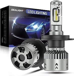 SEALIGHT Scoparc S2 H4/9003/HB2 LED Headlight Bulbs, 9003 LED High Beam Low Beam, 1:1 Halogen Bulb Design, 6000K Bright White