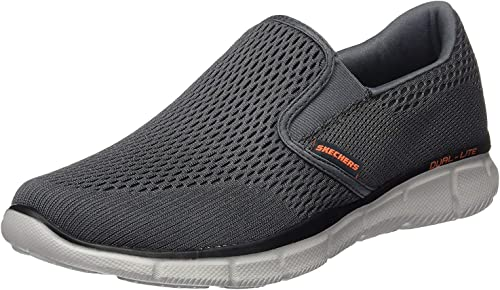 Mens Skechers Memory Foam Slip On Walking Shoes Double Play