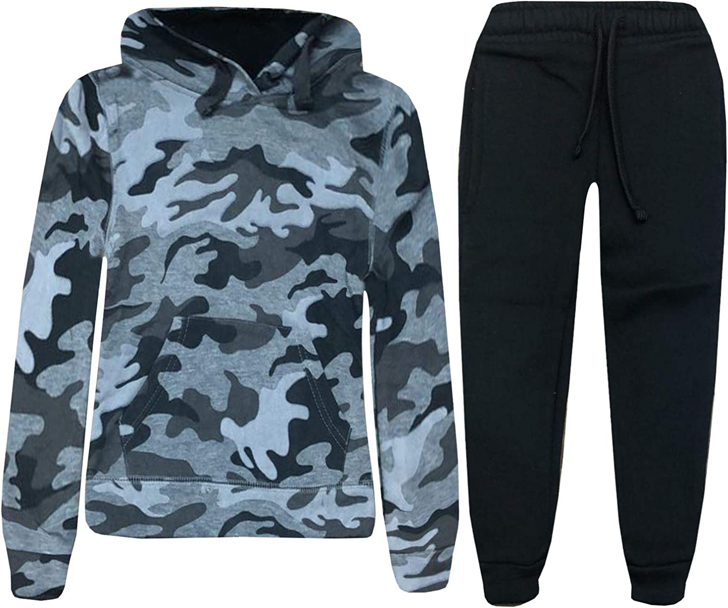 Whispering Jones London Boys Kids Camo Army Tracksuit Hooded Pullover Hoodie Bottom Jog Suit Joggers 0-15