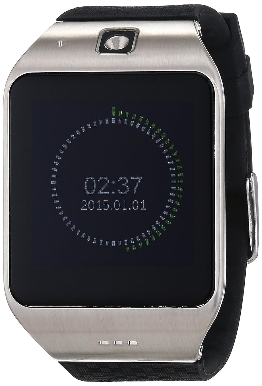 High-Tech Place Uhappy UW1 Smartwatch Blautooth/1,54 Zoll Display/GSM/NFC/Kartenleser SD/Schrittzähler/Benachrichtigung über Untätigkeit/Monitor des Schlaf/Silber