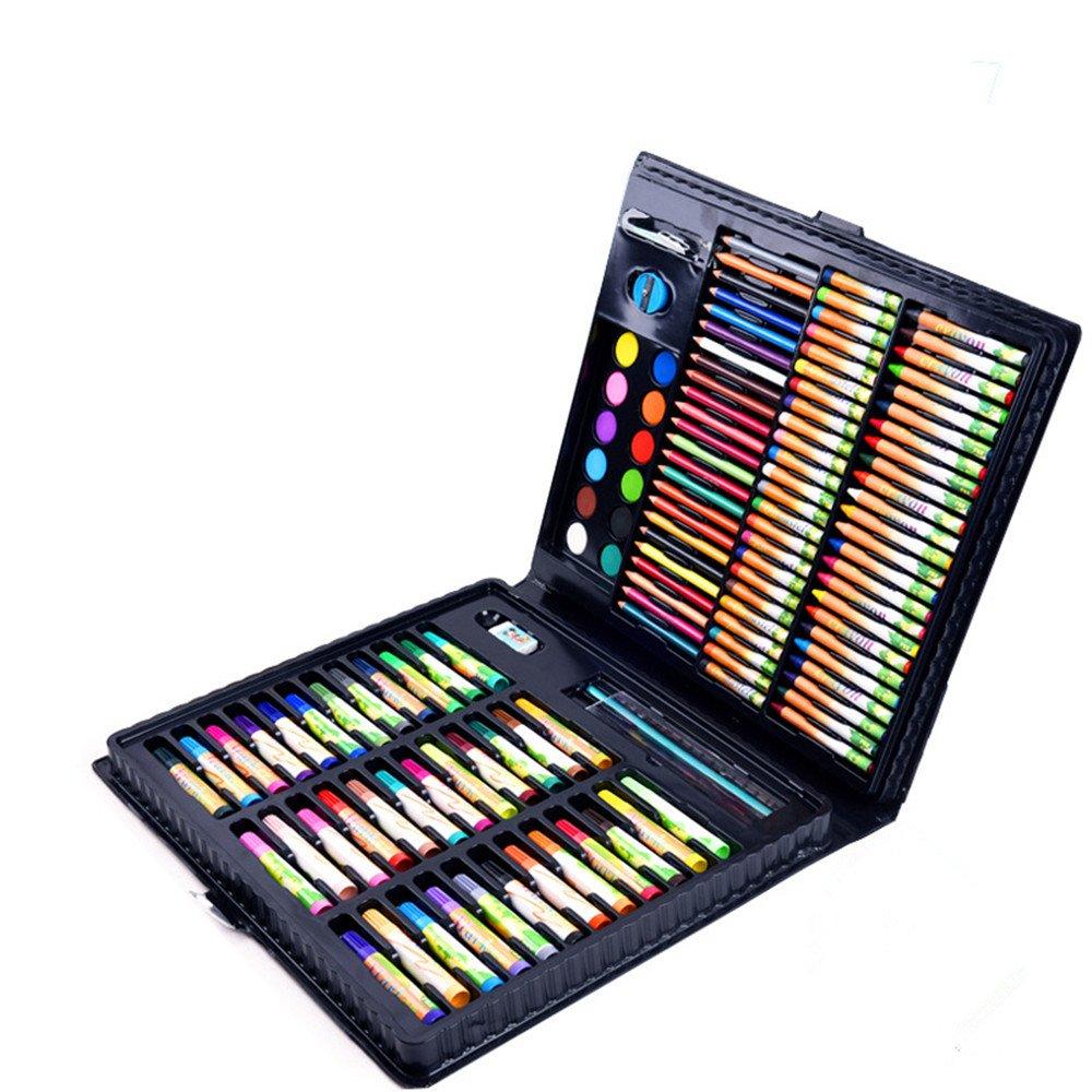 お絵かきセット カラーペン 子供用絵画 160本セット 学用品 ブラシツール 主要な学校 水彩ペン 文房具 ギフトボックス アーティストペン   B07MSHN331