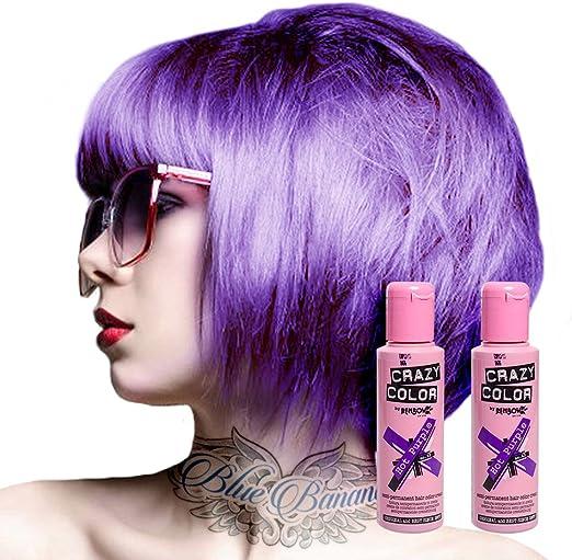 Tinte capilar semi-permanente de Crazy Color 100ml (Hot Purple - morado resplandor)