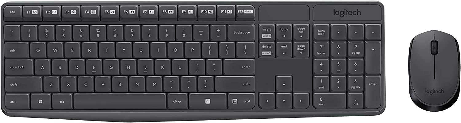 Logitech MK235 Wireless Keyboard and Mouse: Computers & Accessories