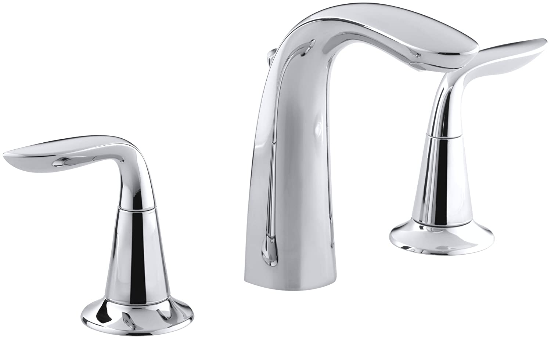 KOHLER K-5317-4-CP Refinia Widespread Lavatory Faucet, Polished ...