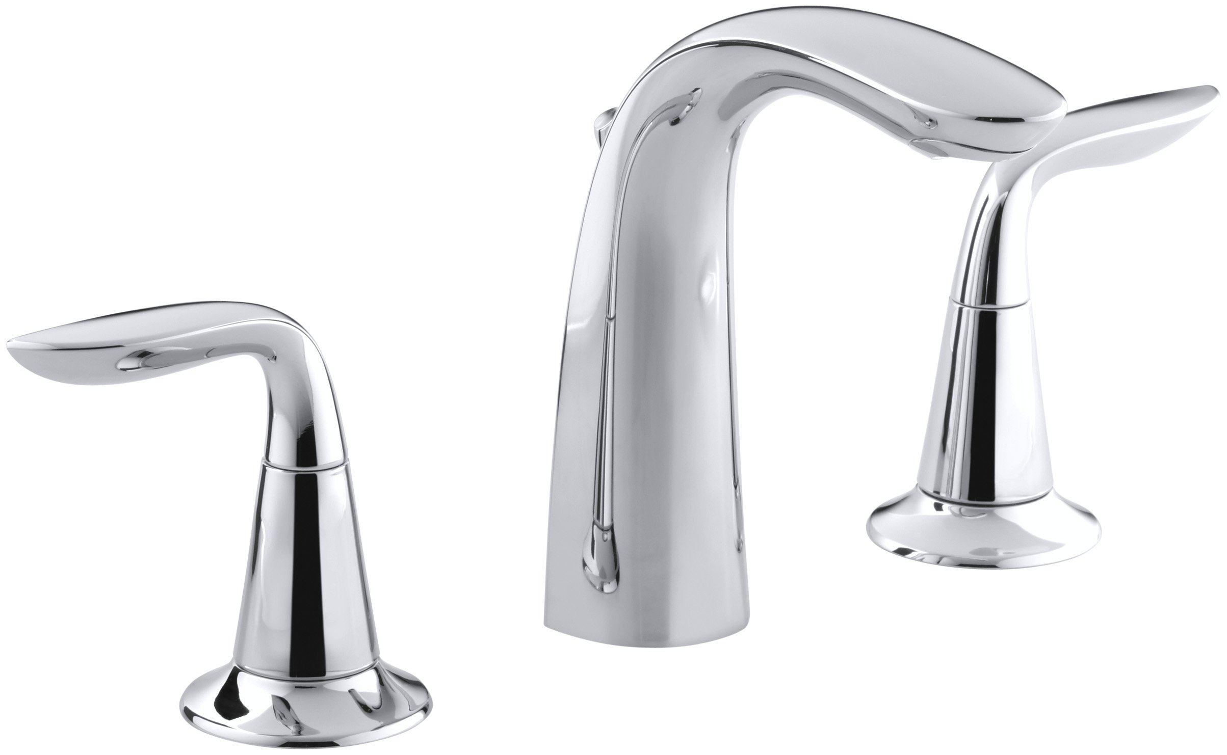 KOHLER K-5317-4-CP Refinia Widespread Lavatory Faucet, Polished Chrome