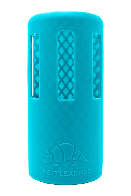 8b62a346e3 BottleArmor Protective Silicone Sleeve for Hydro Flask Water Bottles with  DropShield Technology (Aqua