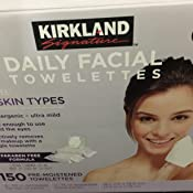 Kirkland Signature Hypoallergenic Daily Facial Towelettes 150 Ct
