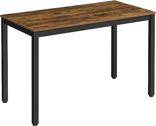 VASAGLE Schreibtisch,großer Computertisch im Industrie-Design, stabiles Metallgestell, multifunktional, fürs Home Office, Wohnzimmer,...