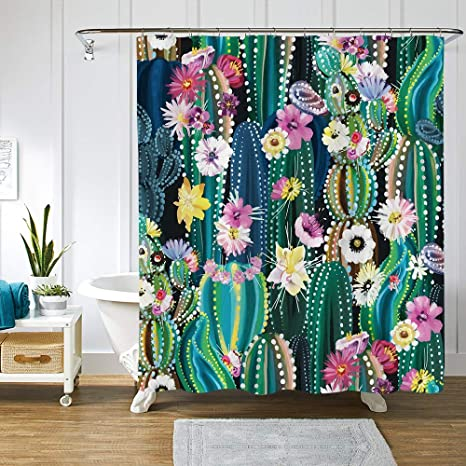 Various Bathroom Shower Curtain Set  Stylish Design Polyester W// 12 Hooks