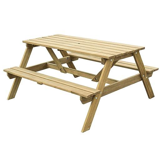 Batam banco de Picnic de madera tratado presión/mesa plegable de ...