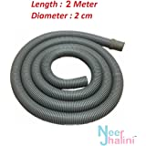 Neerjharini™️ 2 Meter Front Load Washing Machine Drain Pipe / Universal Flexible Plastic Waste Water Outlet / Drain Pipe / Extension Pipe / Discharge Pipe For Front Load Fully Automatic Washing Machine Suitable For All Brands ( LG, Samsung, Godrej, Videocon, Whirlpool, Onida, Bosch, IFB, Electrolux, Haier, Panasonic, Gem, Intex, Sansui, BPL and Other Major Brands )