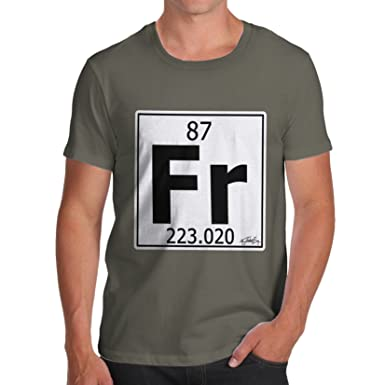Twisted Envy Mens Periodic Table Element Fr Francium T Shirt