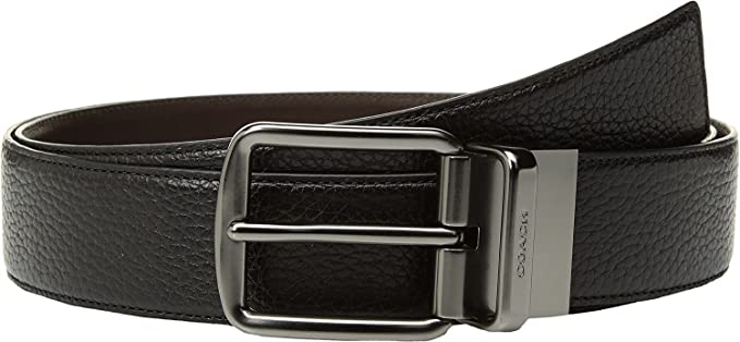 d1bcd340 COACH Men's Wide Reversible Belt Black/Mahogany One Size at Amazon ...