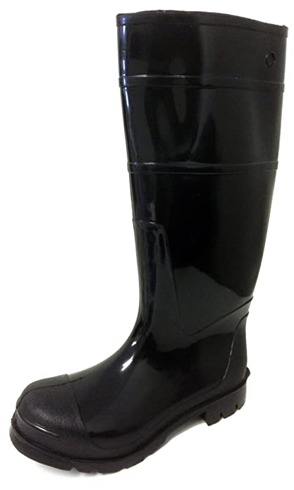 Amazon.com   R-303 Men's Rain Boots Black Rubber Waterproof Knee ...