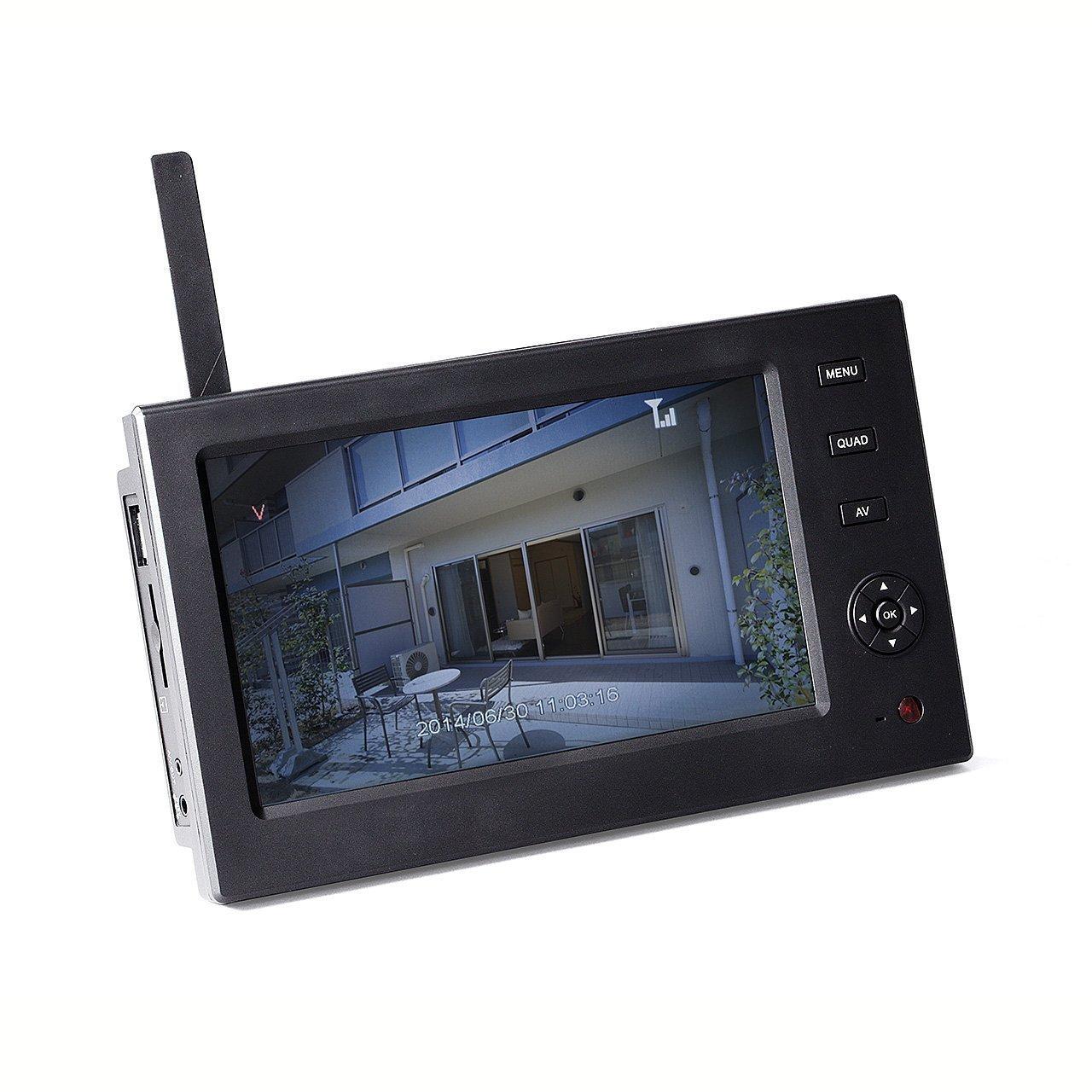 サンワダイレクト 防犯カメラ用 ワイヤレスモニター 400-CAM035/055専用 バッテリー搭載/充電式 7インチ SD/USBメモリー 対応 400-CAM055DSP B01H2SH4AG バッテリー内蔵モニター バッテリー内蔵モニター