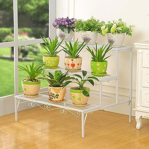 Plancha flor suelo múltiple – Escalera de nivel al aire libre sala de estar balcón flor rack: Amazon.es: Jardín