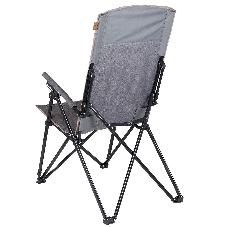 Bo-Camp Unisexs Urban Outdoor-Campingstuhl Dalston Einheitsgr/ö/ße Grau