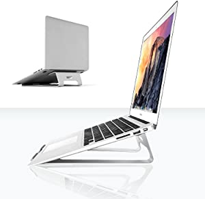 XtremPro Laptop Stand Aluminum Ventilated Stand, Portable Holder for MacBook Pro, All Notebooks, Silver (22039)