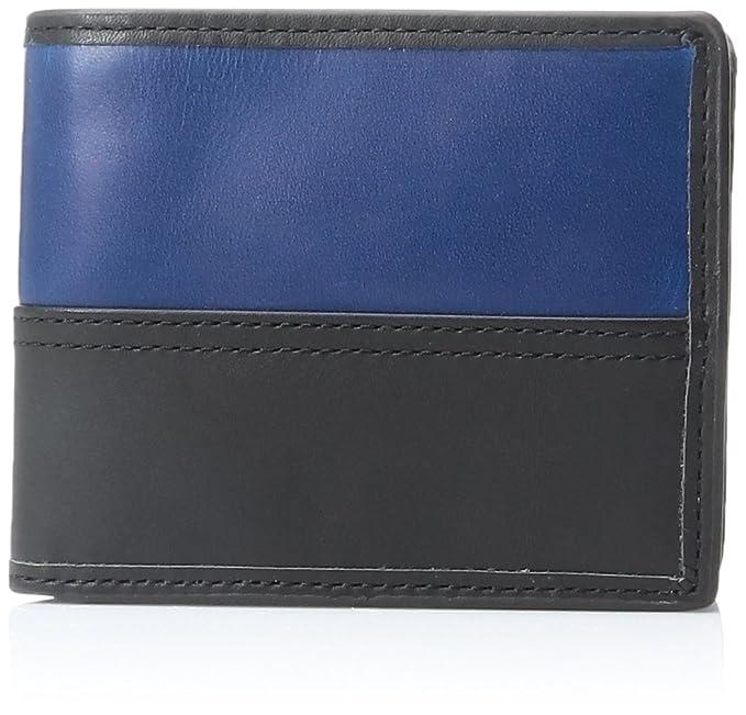 FOSSIL Tate Large Coin Pocket Bifold Black jRZBkGOz