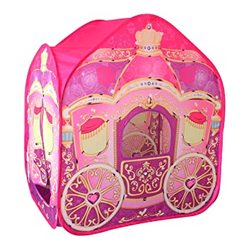 POCO DIVO Princess Carriage Cinderella Wagon Pop-up Play Tent Girls Pretend Playhouse  sc 1 st  Amazon.com : princess play tents - memphite.com