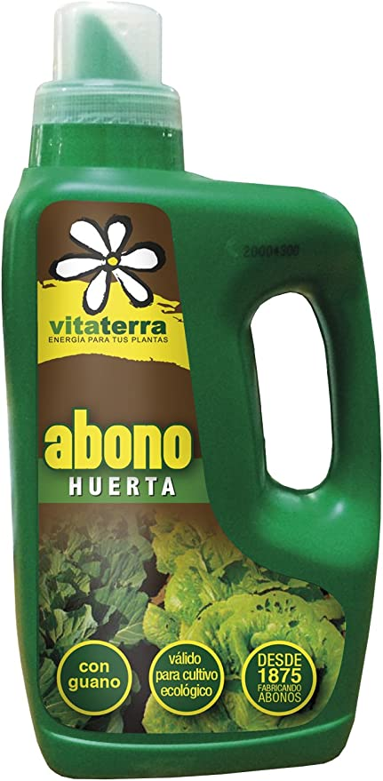 Vitaterra Abono Líquido Huerta 1 l, 09210: Amazon.es: Jardín