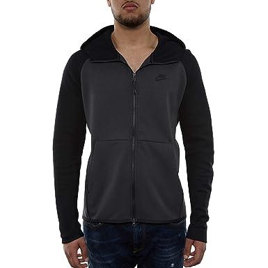 98a663e945 Nike Mens Tech Fleece Full Zip Hoodie Sweatshirt Anthracite Black  928483-060 Size Small