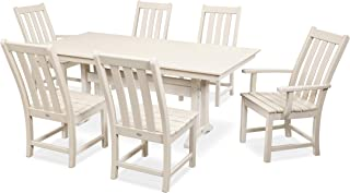 product image for POLYWOOD Vineyard 7-Piece Farmhouse Dining Set (Sand)