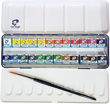 Estuche Pocket Box 24 Acuarela Van Gogh – El National Gallery – Metal Caja de 24 Acuarelas con Pincel: Amazon.es: Juguetes y juegos